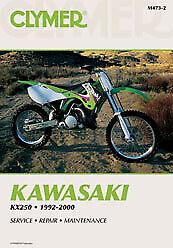 1992-2000 Kawasaki KX250 Repair Manual Clymer M473-2 Service Shop Garage 70-0473