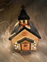 🎄Vtg 1995 Dickens Collectible Sugar Creek County Village House Church CUTE