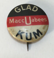 Antique Pin Back Button, Glad U KUM Maccabees Pin, Early 1900's VG, Rare