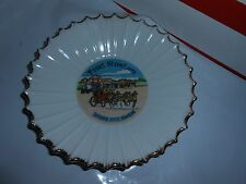 "Vtg Front Street 1873 Dodge City Kansas Souvenir Gold Trim 7"" Porcelain Bowl"