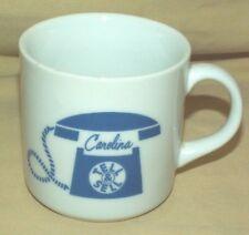 CAROLINA TELEPHONE MUG TELL & SELL COFFEE TEA CUP VINTAGE AD ROTARY DIAL PHONE.