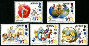 JERSEY 2010 GIRL GUIDE CENTENARY SET OF ALL 5 COMMEMORATIVE STAMPS MNH