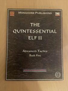 The Quintessential Elf II Advanced Tactics Book 5 Mongoose Publishing D&D