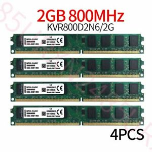 8GB Kit 4x 2GB Kingston PC2-6400U DIMM DDR2 800MHz intel Desktop Memory RAM ZT