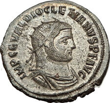 DIOCLETIAN 293AD Antioch Authentic Ancient Roman Coin JUPITER & HERCULES i65477