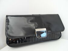 TED BAKER BLACK PATENT LEATHER CLUTCH BAG HANDBAG PARTY WEDDING USED ONCE