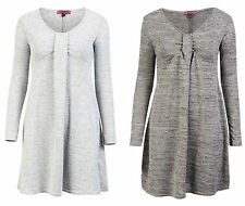 Polyester Patternless Round Neck Casual Dresses for Women