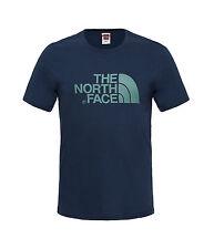 The North Face fácil camiseta Azul Marino Verde Urbano Etiqueta Tnf Streetwear