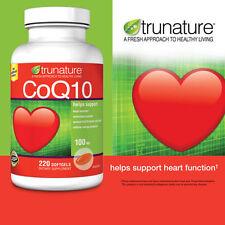 Trunature CoQ10 100mg Coenzyme Q-10 Heart Antioxidant 220 Softgels