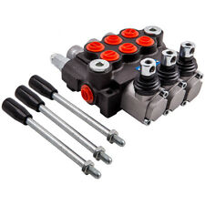 3spool Hydraulic Control Valve 11gpm Double Acting Cylinder For Tractors Loaders