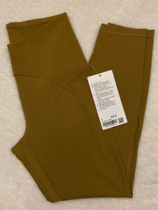 """NWT Lululemon Unlimit High Rise Tight 25"""" Nulu Gold Spice Legging Size 8 NEW"""