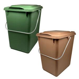 SULO Biotonne Abfallsammler 10l Kunststoff Klappdeckel Bioabfall Abfalleimer