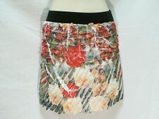 "FLORAL STRETCHY CRINKLE SKIRT, LUSHOUS,  6 TO 8  AUZ  ""NWT"" RRP $22 C07"