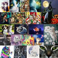 Full Drill 5D DIY Cats Animal Diamond Painting Embroidery Cross Stitch Kit  hv2n