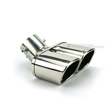 Big Car Accessories Exterior Dual Silencer Exhaust Muffler End Tail Pipe Silver.