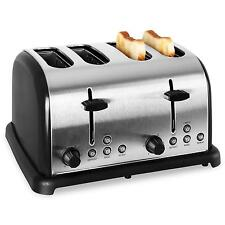STAINLESS STEEL 4-SLICE TOASTER 1650W EXTRA WIDE SLOTS *FREE P&P SPECIAL OFFER
