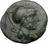 Thessalian League Larissa in Thessaly 196BC Athena Horse Greek Coin i49243