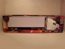 Peterbilt 387 Semi Tractor Trailer Die-cast Plastic 1:32 Newray 22 inches White