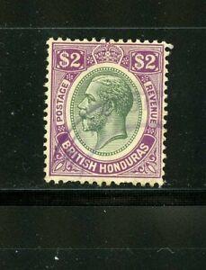 British Hondura #104 (BR508) King George V $2.00 black & Violet, U,FVF,CV$300.00