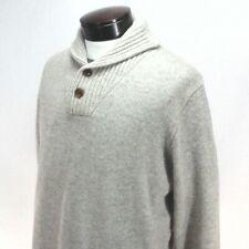 JCREW 100% Lambswool Sweater Oatmeal Shawl Collar Winter Men's LT Tall New