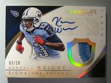 *03/10*  2015 Immaculate Collection Signature Patches GOLD #8 Kendall Wright RC