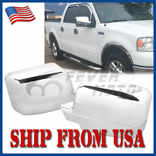 US Pair Chrome Side Rearview Mirror Full Covers For Ford F150 FX2 FX4 2004-08 FM