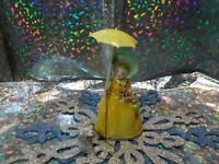 Vintage Relco Victorian Shopping Girl w/Parasol & flowers Walking Poodle