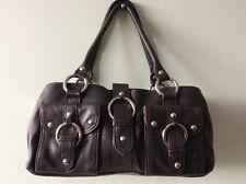 RI2K real leather brown small chunky handbag