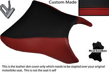 DARK RED & BLACK CUSTOM FITS APRILIA SL 1000 FALCO 99-05 FRONT SEAT COVER