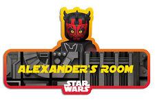 Lego Star Wars 'Phantom Menace' Personalised Name Plate/Door Sticker