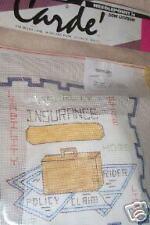 Vintage? Carde' Needlepoint Kit Insurance Broker NIP