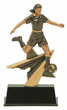 "7"" Female Soccer Star Power PDU Resin Trophy Free Engraving"