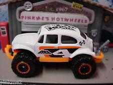 2012 Matchbox VW VOLKSWAGEN BEETLE 4x4 ∞White/Orange Bug∞NEW Loose