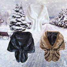 Warm Winter Fashion Women's Batwing Cape Poncho Jacket Lady Cloak Faux Fur Coat