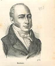 François Dominique de Reynaud de Montlosier 1755-1838 député  GRAVURE 1883