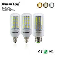 E27 E14 E12 Corn Led Light Lamp Cool White 5736 SMD Bulb Candle 110V 220V