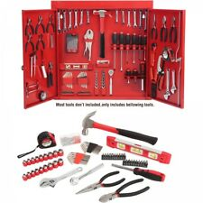 Metal Wall Mounted Tool Kit Cabinet 151 Pcs Sturdy Steel Garage Shelf Organizer