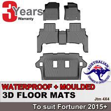 3D Rubber Floor Mats Waterproof to suit Toyota Fortuner 2015+
