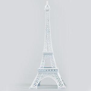 "10"" METAL EIFFEL TOWER STAND SCULPTURE FIGURINE PARIS THEMED DECORATION-5 COLORS"