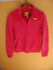Prince & Fox Half Zip Solid Cotton Blend Red Women's Sweatshirt Size XS