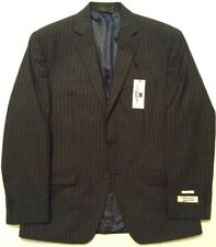 Michael Strahan Mens Dress Suit Jacket Sport Coat Navy Pinstripe 40 Short NWT