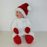 PRINTED KNITTING INSTRUCTIONS-BABY SANTA HAT, BOOTIES & MITTENS KNITTING PATTERN
