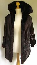 SABLE MINK FUR COAT Silk Lining SOFT SUPPLE - NO ODOUR CLEAN  EX QUALITY  8-14