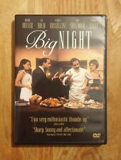 Big Night (1996) Very Good DVD with Chapter Insert! Stanley Tucci, Tony Shalhoub
