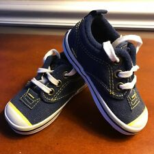 Keds Sneakers Navy Blue/Yellow Basic Canvas Lace  Sneakers Infants Size 4