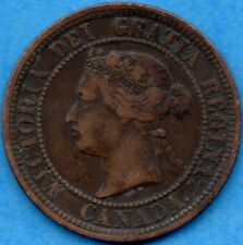 Canada 1882 H 1 Cent One Large Cent Coin - Very Fine