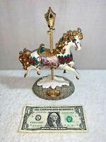 Thomas Kinkade  Carousel Collection Sweetheart Hutch Christmas Holiday Decor