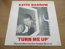 "Keith Barrow ‎– Turn Me Up   Vinyl 12"" UK 1978 Funk / Soul   CBS - S CBS 12-7090"