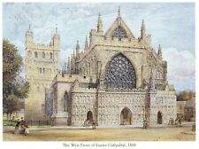 WEST FRONT OF EXETER CATHEDRAL, EXETER, DEVON ENGLAND Postcard!