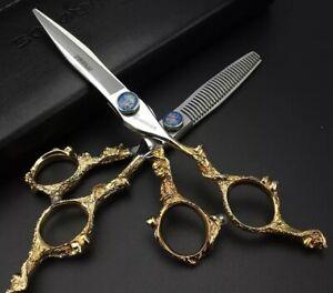 "Professional Hair Scissors Set Salon Barber Haircut Shears Japan Steel 6"""
